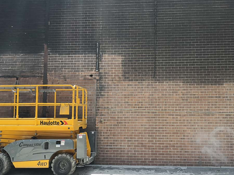 cleaning fire damage from bricks