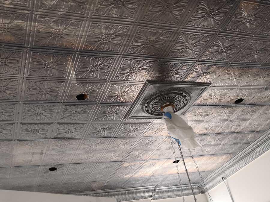 tin ceiling restoration